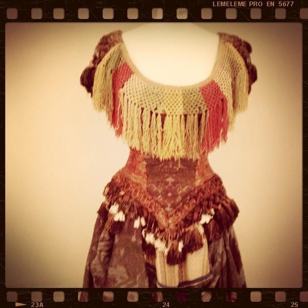 Vestido usado en Divinas Palabras, en gasa y algodón