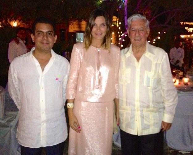 Con Gonzalo y Mario Vargas Llosa