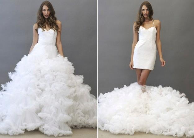 Vestido de novia en partes