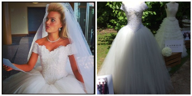 La novia de Leonardo Dicaprio en El lobo de Wall Street con vestido de Lorenzo Caprile