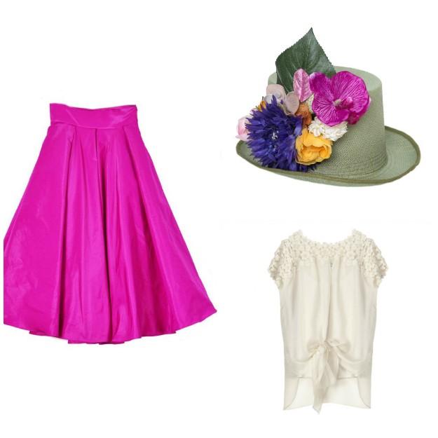 Falda: Coosy; Blusa: Hoss Intropia; Chistera: El Desván de Manuela