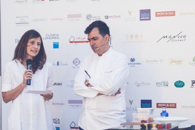 María Fernández de Córdova de TELVA  y Ramón Freixá. Foto: Elena Bau