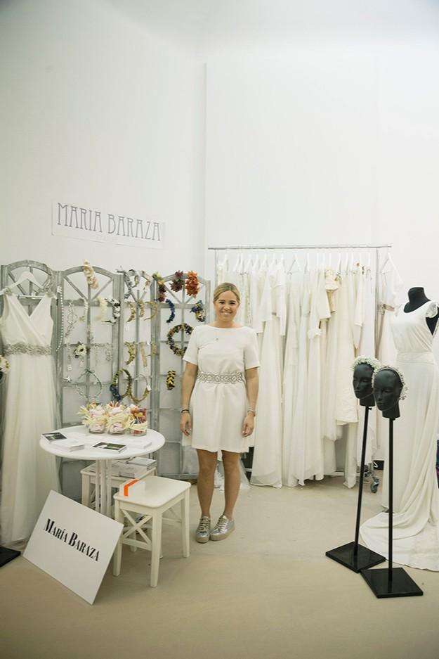 La diseñadora María Baraza en su stand