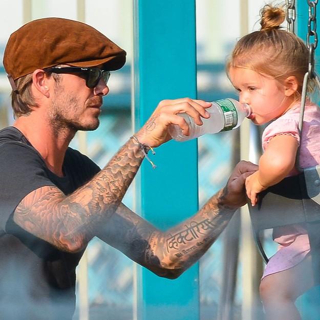 No sabemos si será el futbolista el peluquero de Harper, pero la niña no puede estar más guapa.