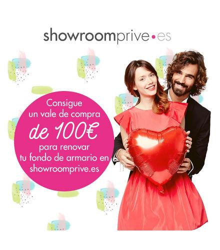 Consigue un voucher por valor de 100 euros en Showroomprive.