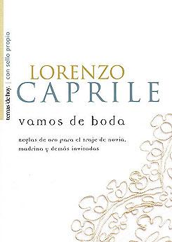 Portada del libro Vamos de boda de Lorenzo Caprile.
