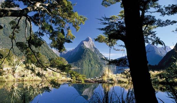Lagos de agua cristalina en Milford Sound