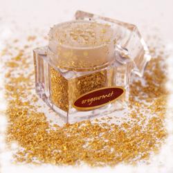 Oro gourmet comestible para adornar comidas y bebidas navideñas