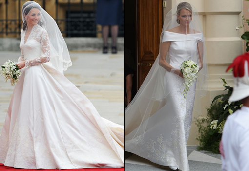 los vestidos de novia de kate middleton y charlene wittstock