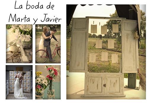 Inspírate en los detalles de la boda de Marta y Javier