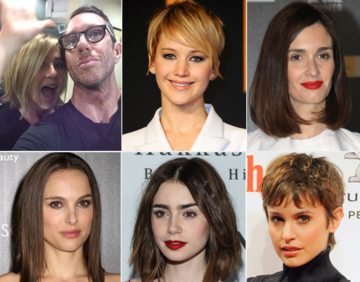 Celebrities con pelo corto