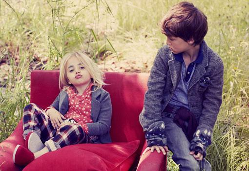 Niños en el campo. Tendencias de moda