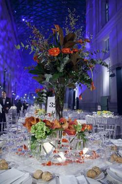 Centro de flores en los Premios TELVA Moda 2013.