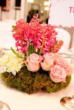 Centro de flores de Bourguignon Floristas en los Premios TELVA Belleza 2014.