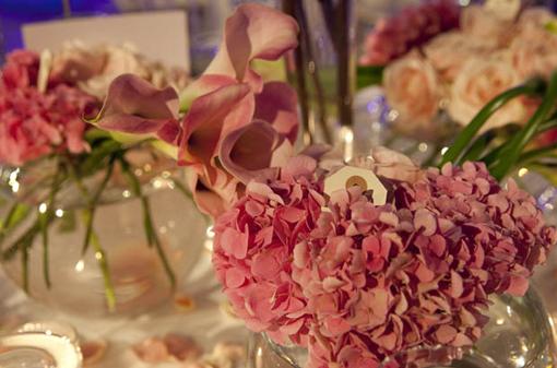 Hortensias rosas en los Premios TELVA Moda 2013