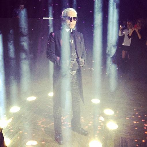 Karl Lagerfeld en la fiesta de su perfume