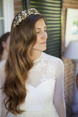 Peinado de novia con el pelo suelto
