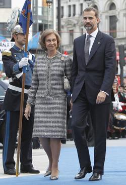 Reina Doña Sofía y Príncipe Felipe