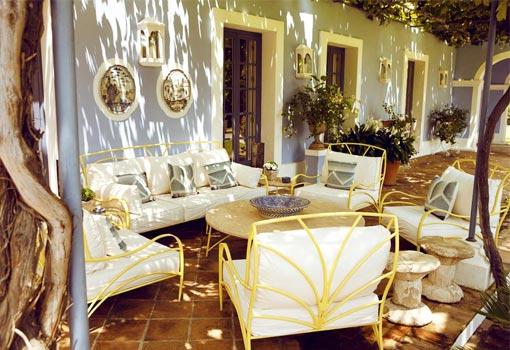 Porche de una la vivienda de Alicia Villapadierna