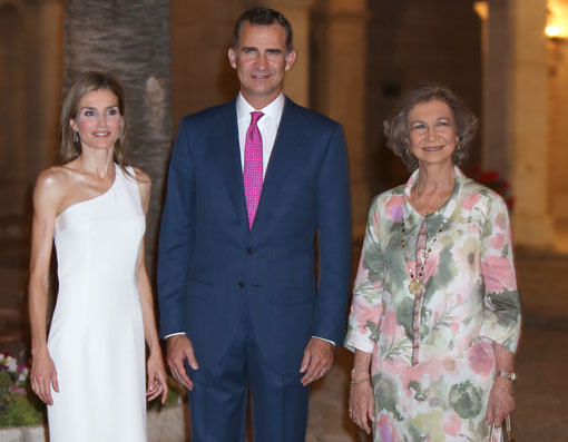 Felipe VI y Letizia visten de gala Palma de Mallorca