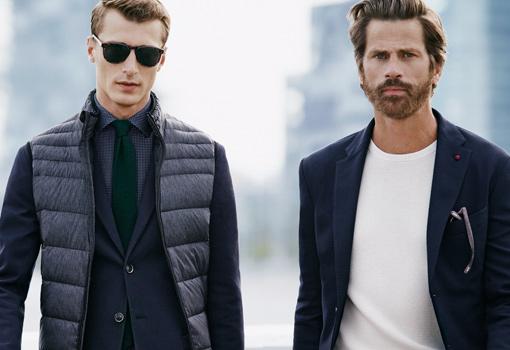 Clement Chabernaud y Mark Vanderloo juntos en una nueva campaña de moda