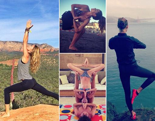 Yoga <em>selfie</em> o por qué practicar asanas con tu móvil está de moda
