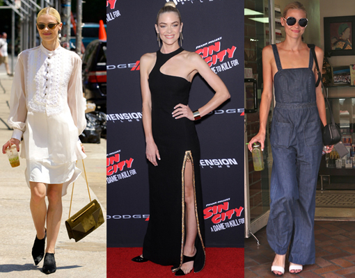 Blanco negro y denim, el estilo Sin City de Jaime King
