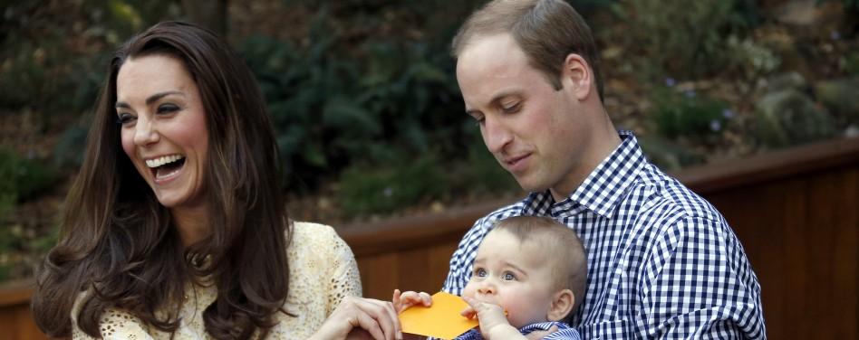 Kate Middleton, Guillermo de Inglaterra y el Príncipe George