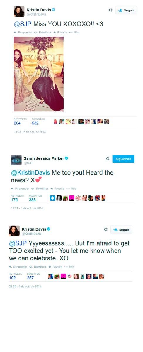Los tweets de Kristin Davis y SJP