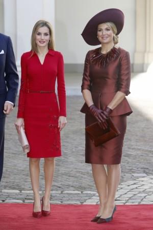 Letizia junto a Máxima de Holanda