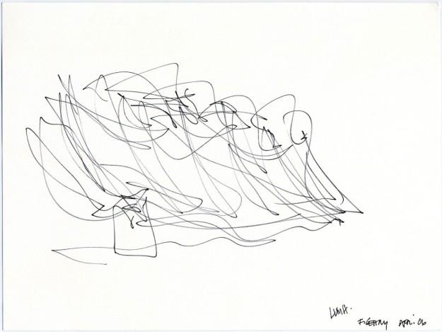 Boceto de Frank Gehry de la Fundación Louis Vuitton.