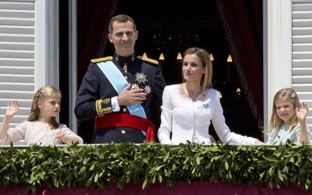 La Familia Real Española durante la proclamación de Felipe VI