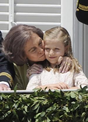 La Reina Doña Sofía y Leonor de Borbón en la proclamación de Felipe VI
