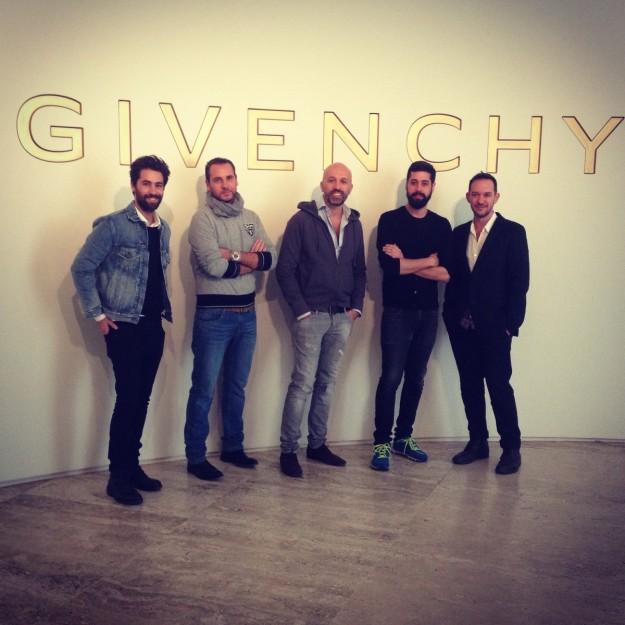 Los diseñadores en la exposición sobre Givenchy