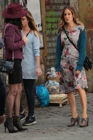 Sarah Jessica Parker y Paz Vega en All roads lead to Rome