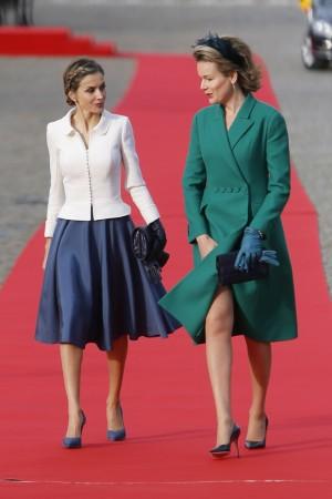 Letizia y Matilde de Bélgica