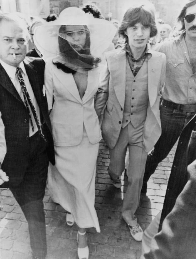 Bianca y Mick Jagger el día de su boda