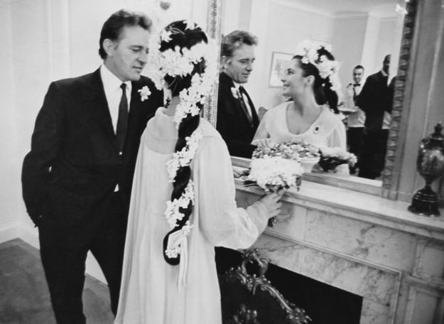 Elizabeth Taylor el dia de su boda.