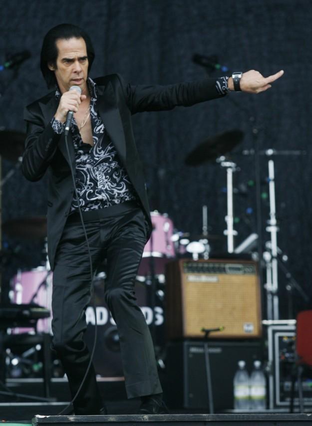 Nick Cave durante un concierto.