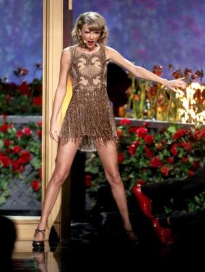 Taylor Swift en los American Music Awards.