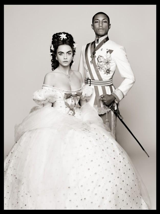 Cara Delevingne y Pharrell son los protagonistas del vídeo.