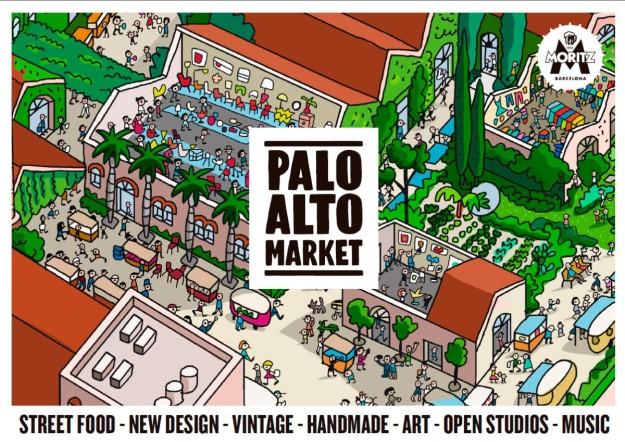 Cartel de Palo Alto Market.