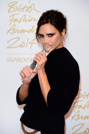 Victoria Beckham, galardonada como Mejor Firma del Año.