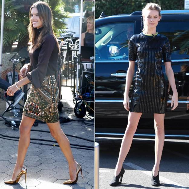 Alessandra Ambrosio y Behati Prinsloo: Duelo de piernas de ángeles de Victoria's Secret