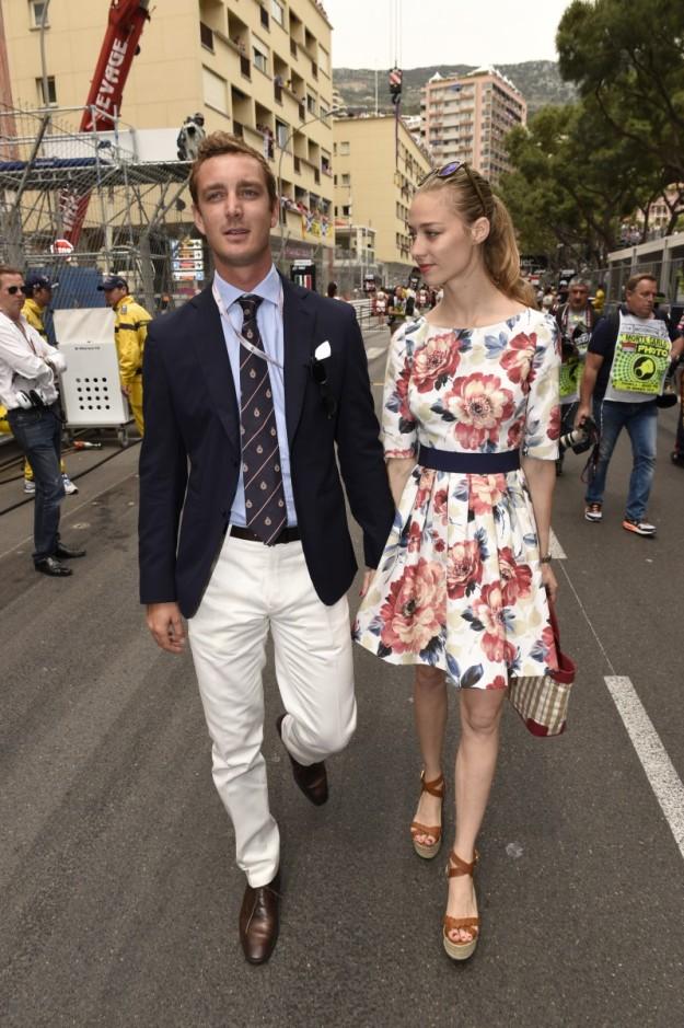 La pareja en el Gran Premio F1 2014