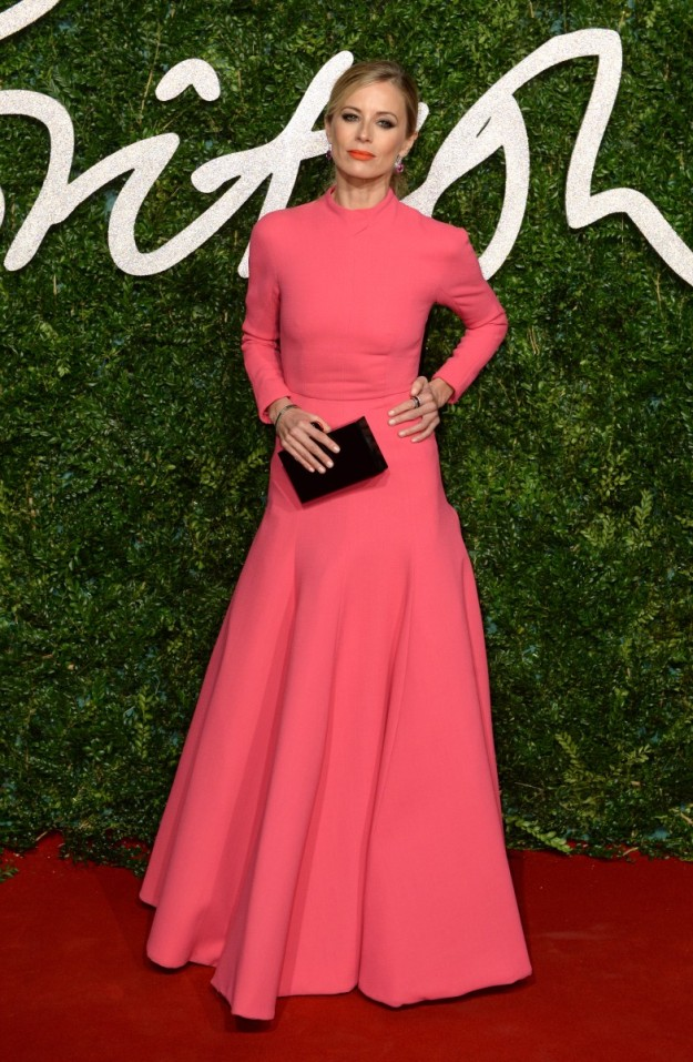 Laura Bailey vestida de Emilia Wickstead en los últimos British Fashion Awards.