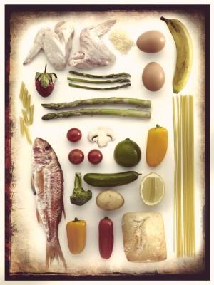 verduras y proteínas.