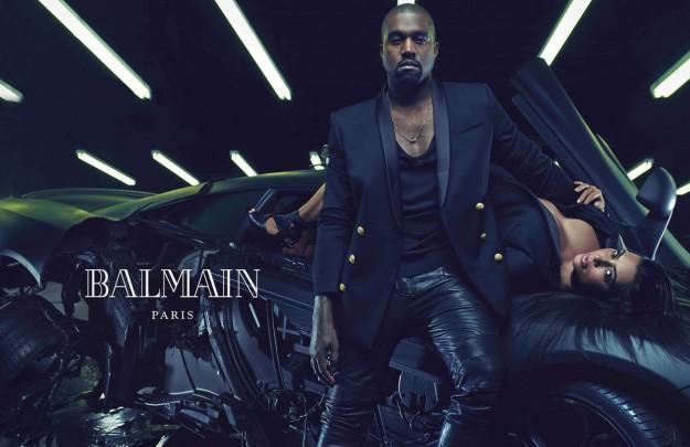 Kim y Kanye posan juntos para Balmain