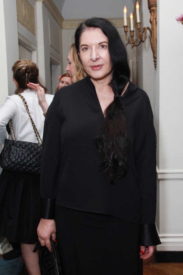 Marina Abramovic en un evento de arte en Nueva York.