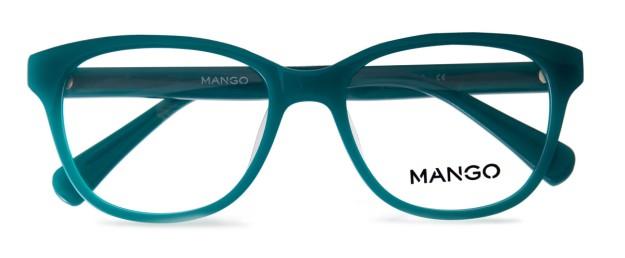 Gafas de montura redonda en azul turquesa de Mango